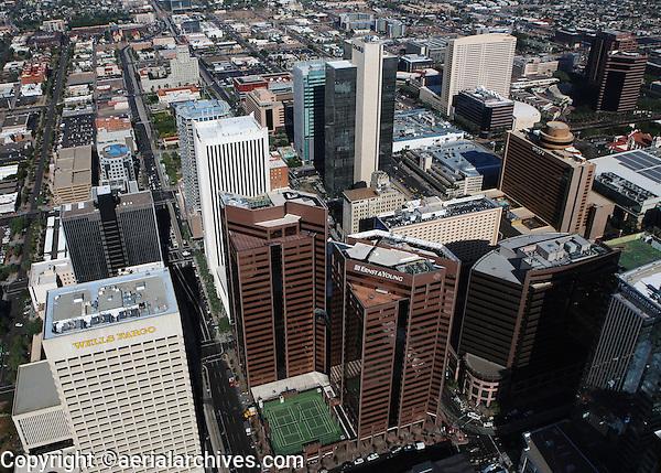 aerial photograph of downtown Phoenix, Arizona