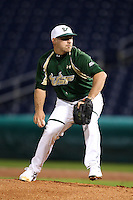 February 27, 2010:  Pitcher Ray Delphey of the South Florida Bulls during the Big East/Big 10 Challenge at Bright House Field in Clearwater, FL.  Photo By Mike Janes/Four Seam Images
