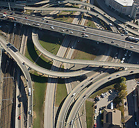 aerial view, traffic intersection, Rt. 95 Providence, RI