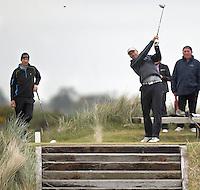 27 May 2015; Stevie Ferris tees off at the 8th<br /> <br /> Dubai Duty Free Irish Open Golf Championship 2015, Pro-Am. Royal County Down Golf Club, Co. Down. Picture credit: John Dickson / DICKSONDIGITAL