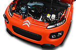 Car Stock 2016 Citroen E-Mehari 3 Door Convertible Engine  high angle detail view