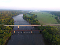 The james River as it flows thru Buckingham County, Virginia. Photo/Andrew Shurtleff