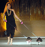 Tua Burke with Annabelle and Lucy at the Citizens for Animal Protection owner/pet fashion show at the Hilton Americas Houston Saturday June 06,2009.(Dave Rossman/For the Chronicle)