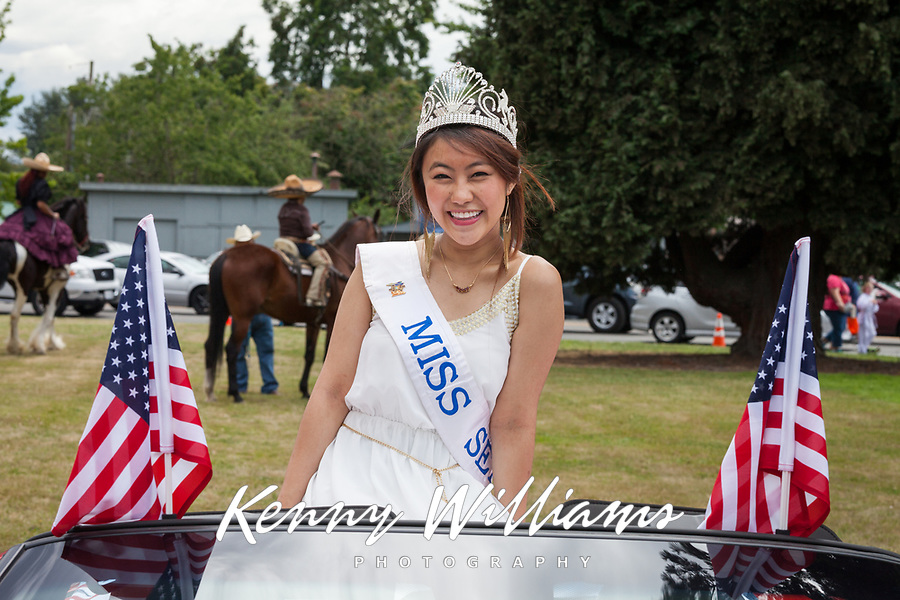 Miss Seafair Nella Kwan, Kent Cornucopia Days, Kent, Washington State, WA, USA.