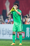 Suwon Goalkeeper Shin Hwayong reacts during the AFC Champions League 2017 Group G match between Guangzhou Evergrande FC (CHN) vs Suwon Samsung Bluewings (KOR) at the Tianhe Stadium on 09 May 2017 in Guangzhou, China. Photo by Yu Chun Christopher Wong / Power Sport Images