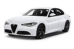 2020 Alfaromeo Giulia Sprint 4 Door Sedan Angular Front automotive stock photos of front three quarter view