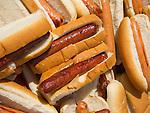 1st Congregational Church picnic, Madison, CT. Hotdogs on buns.