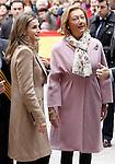 Princess Letizia of Spain (l) and the President of the Goverment of Aragon Rita Barbera visit Alcaniz village on November 7, 2012 in Alcaniz, Teruel, Spain. (ALTERPHOTOS/Acero)
