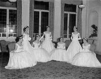 Duchesses  du  Festival de Quebec vers 1960<br /> <br /> <br /> PHOTO  : Agence Quebec Presse