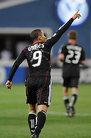 DC United forward Charlie Davies (9) salutes the fans after scoring his second goal.  DC United defeated The Columbus Crew 3-1  at the home season opener, at RFK Stadium, Saturday March 19, 2011.