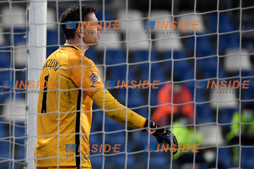 Wojciech Szczesny of Poland \reacts during the Uefa Nation League Group Stage A1 football match between Italy and Poland at Citta del Tricolore Stadium in Reggio Emilia (Italy), November, 15, 2020. Photo Andrea Staccioli / Insidefoto