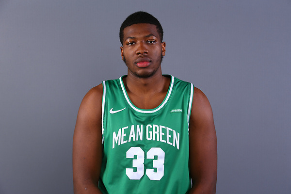 Mean Green Men's Basketball Headshots at Super Pit in Denton on January 5, 2021