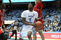 CHAPEL HILL, NC - NOVEMBER 01: Brandon Robinson #4 of the University of North Carolina drives the lane during a game between Winston-Salem State University and University of North Carolina at Dean E. Smith Center on November 01, 2019 in Chapel Hill, North Carolina.