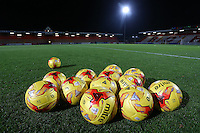 Match balls on the pitch during Stevenage vs Southend United, Checkatrade Trophy Football at the Lamex Stadium on 8th November 2016