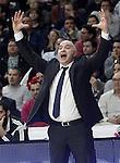Real Madrid's coach Pablo Laso during Euroleague match.February 5,2015. (ALTERPHOTOS/Acero)