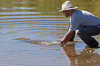 Jason Matthies; Carp Bow Wave while being released on Out-of-Towner Flats, Colorado