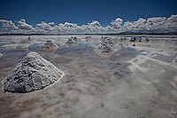 """Uyuni Salt Flats, Bolivia<br /> April 19, 2012<br /> A view of the salt mountains in the Uyuni Salt Flats, the largest salt desert in the world and one of the main attractions for the Dakar 2014 next January.  ©PATRICIO CROOKER/ARCHIVO LATINO For  the first time in its history,  in January 2014 the Dakar Rally will  be cross part of Bolivia, one of the wildest South American nations.  """"The organizers of the Dakar, attracted by the discovery of new spaces, were conquered by Bolivian landscapes that can be classified among the most striking of the continent,"""" says the official site of the international race.<br /> The most impressive is the section that runs through the Salar of Uyuni,  considered the world's largest salt flat and a place of surreal beauty, almost otherworldly.<br /> The competition is scheduled for  in January 2014. Our photographer and  friend Patricio Crooker  show us  the unique beauty of the places the rally will hit."""