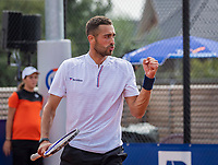 Amstelveen, Netherlands, 1 August 2020, NTC, National Tennis Center, National Tennis Championships, Men's Doubles final:  David Pel (NED) <br /> Photo: Henk Koster/tennisimages.com