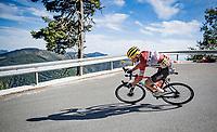 Toms Skujins (LVA/Trek-Segafredo) down the Col de Turini<br /> <br /> Stage 2 from Nice to Nice (186km)<br /> <br /> 107th Tour de France 2020 (2.UWT)<br /> (the 'postponed edition' held in september)<br /> <br /> ©kramon