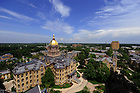 Main Building as seen from the top of the Basilic...Photo by Matt Cashore/University of Notre Dame