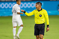 CARSON, CA - OCTOBER 18: Refree Victor Rivas during a game between Vancouver Whitecaps and Los Angeles Galaxy at Dignity Heath Sports Park on October 18, 2020 in Carson, California.