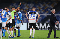 Carlo Ancelotti coach of Napoli red card<br /> Napoli 30-10-2019 Stadio San Paolo <br /> Football Serie A 2019/2020 <br /> SSC Napoli - Atalanta BC<br /> Photo Cesare Purini / Insidefoto