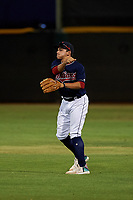 AZL Indians Red second baseman Christian Cairo (8) throws to the shortstop during an Arizona League game against the AZL Padres 1 on June 23, 2019 at the Cleveland Indians Training Complex in Goodyear, Arizona. AZL Indians Red defeated the AZL Padres 1 3-2. (Zachary Lucy/Four Seam Images)