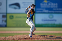Myrtle Beach Pelicans relief pitcher Scott Kobos (3) in action against the Lynchburg Hillcats at Bank of the James Stadium on May 23, 2021 in Lynchburg, Virginia. (Brian Westerholt/Four Seam Images)