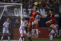 San Diego, CA - Sunday January 21, 2018: Lynn Williams, Carli Lloyd prior to an international friendly between the women's national teams of the United States (USA) and Denmark (DEN) at SDCCU Stadium.