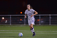 Marie Van Caesbroeck (15) of Anderlecht with the ball  during a female soccer game between  Racing Genk Ladies and Royal Sporting Club Anderlecht , a delayed game from the 1st  matchday of the 2021-2022 season of the Belgian Scooore Womens Super League , tuesday 28 September 2021  in Genk , Belgium . PHOTO SPORTPIX | JILL DELSAUX
