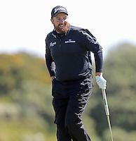 Sunday 31st May 2015; Shane Lowry, Ireland, on the 8th green<br /> <br /> Dubai Duty Free Irish Open Golf Championship 2015, Round 4 County Down Golf Club, Co. Down. Picture credit: John Dickson / DICKSONDIGITAL