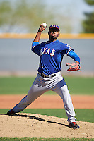 Texas Rangers pitcher Ismel Lopez (89) during an Instructional League game against the Kansas City Royals on October 4, 2016 at the Surprise Stadium Complex in Surprise, Arizona.  (Mike Janes/Four Seam Images)