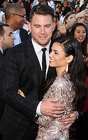 WESTWOOD, LOS ANGELES, CA, USA - JUNE 10: Channing Tatum, Jenna Dewan, Jenna Dewan-Tatum at the World Premiere Of Columbia Pictures' '22 Jump Street' held at the Regency Village Theatre on June 10, 2014 in Westwood, Los Angeles, California, United States. (Photo by Xavier Collin/Celebrity Monitor)