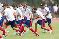 Washington D.C. VA. - Wednesday, September 2, 2015: The USMNT train in preparation for their international friendly games versus Peru and Brazil at American University.