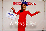 Maritess McCarthy from Cork a nurse in the CUH, the winner of the Best Dressed Lady at the Listowel Races Ladies day on Friday.