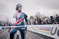 Evie Richards (GBR/TrekFactoryRacing) at the start of the Women's  U23 Race<br /> <br /> UCI CX Worlds 2018<br /> Valkenburg - The Netherlands