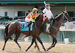 June 26,, 2021: #9 Visitant and jockey James Graham in the Stephen Foster Grade 2  at Churchill Downs.  Louisville, KY on June 26, 2021.  Candice Chavez/ESW/CSM
