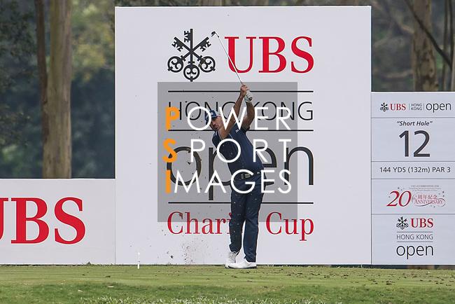 Gregory Havret of France tees off during the day three of UBS Hong Kong Open 2017 at the Hong Kong Golf Club on 25 November 2017, in Hong Kong, Hong Kong. Photo by Marcio Rodrigo Machado / Power Sport Images