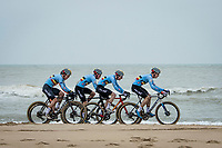 the Belgians in close formation<br /> <br /> UCI 2021 Cyclocross World Championships - Ostend, Belgium<br /> <br /> U23 Men's Race<br /> <br /> ©kramon