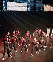 """""""On Fire"""" performing.  Special Olympics Surrey put on a show,   """"Beyond the Stars"""", at the Rose Theatre, Kingston upon Thames to raise money for the  SOGB team.  The Special Olympics are for athletes with learning disabilities."""