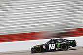 HAMPTON, GEORGIA - JUNE 06: Riley Herbst, driver of the #18 Monster Energy Toyota, races during the NASCAR Xfinity Series EchoPark 250 at Atlanta Motor Speedway on June 06, 2020 in Hampton, Georgia. (Photo by Chris Graythen/Getty Images)