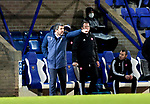 St Johnstone v Hamilton Accies…30.12.20   McDiarmid Park     SPFL<br />Callum Davidson directs his players from the touchline<br />Picture by Graeme Hart.<br />Copyright Perthshire Picture Agency<br />Tel: 01738 623350  Mobile: 07990 594431