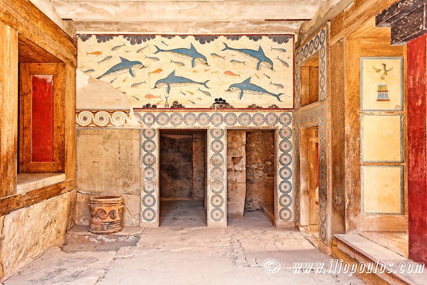 The Hall of the double Axes and the Queen's Megaron of the Palace in Knossos at Crete, Greece