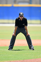 Umpire Sam Dodson during a game between the GCL Yankees 2 and GCL Blue Jays on July 2, 2014 at the Bobby Mattick Complex in Dunedin, Florida.  GCL Yankees 2 defeated GCL Blue Jays 9-6.  (Mike Janes/Four Seam Images)