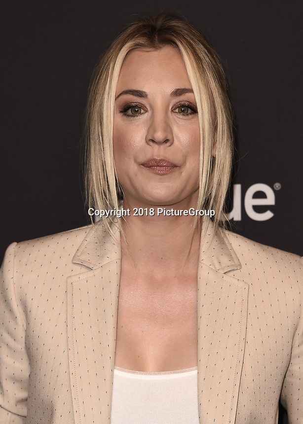"""HOLLYWOOD, CA - MARCH 21:  Kaley Cuoco at PaleyFest 2018 - """"The Big Bang Theory"""" at the Dolby Theatre on March 21, 2018 in Hollywood, California. (Photo by Scott KirklandPictureGroup)"""