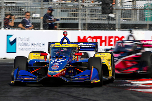 #27: Alexander Rossi, Andretti Autosport Honda, #06: Helio Castroneves, Meyer Shank Racing Honda