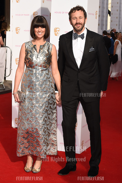 Dawn O'Porter and Chris O'Dowd<br /> arrives for the 2015 BAFTA TV Awards at the Theatre Royal, Drury Lane, London. 10/05/2015 Picture by: Steve Vas / Featureflash