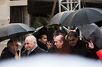 ARRIVEE DE GEORGES KEPENEKIAN/GERARD COLLOMB/DAVID KIMEFELD - OBSEQUES DE PAUL BOCUSE A LYON