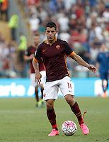 Calcio, Serie A: Roma vs Juventus. Roma, stadio Olimpico, 30 agosto 2015.<br /> Roma's Iago Falque in action during the Italian Serie A football match between Roma and Juventus at Rome's Olympic stadium, 30 August 2015.<br /> UPDATE IMAGES PRESS/Isabella Bonotto