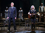 "Patrick Page and Anais Mitchell during the Broadway Press Performance Preview of ""Hadestown""  at the Walter Kerr Theatre on March 18, 2019 in New York City."